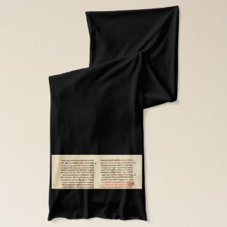 Medieval Manuscript Scarf