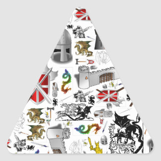 Medieval Mash-up Triangle Stickers