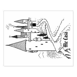 Medieval Me Casa Castle Rubber Stamp