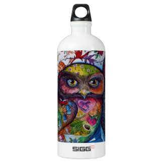 medieval owls water bottle