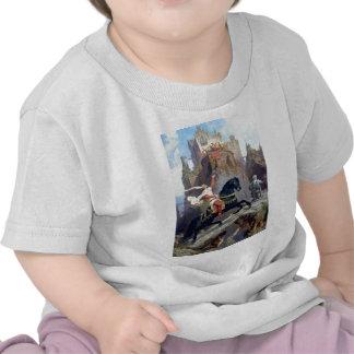 Medieval Prince black horse gnomes castle T Shirt