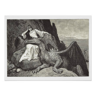 Medieval Queen and Her Pet Dragon