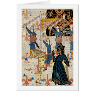 Medieval Queen and Knights Card