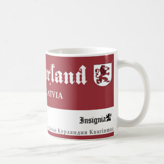 Medieval Red Lion from Courland Latvia Coffee Mug