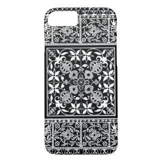 Medieval Renaissance Elegant Black and White Lace iPhone 7 Case