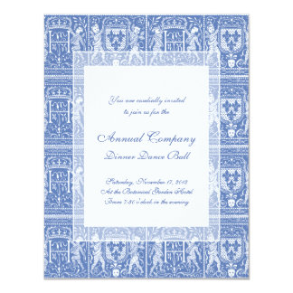 Medieval Renaissance Elegant Blue and White Card