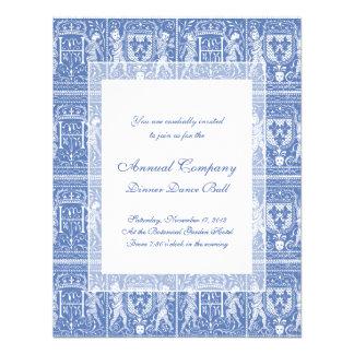 Medieval Renaissance Elegant Blue and White Invite