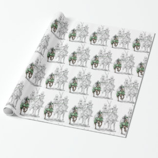 Medieval Renaissance Knights Wrapping Paper