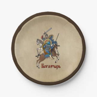 Medieval Russian Bogatyr Paper Plate