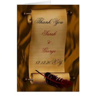 medieval scroll vintage Thank You Card