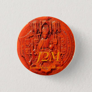 medieval seal, J2M, Jean-Marie Moyer 3 Cm Round Badge