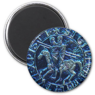 Medieval Seal of the Knights Templar 6 Cm Round Magnet