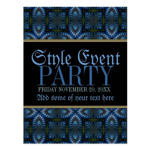 Medieval Shadows Pattern Party Invite Post Cards