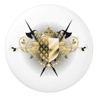 Medieval Shield Ceramic Knob