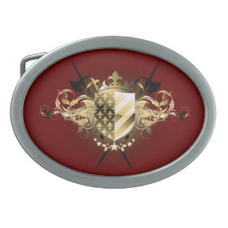 Medieval Shield Oval Belt Buckle