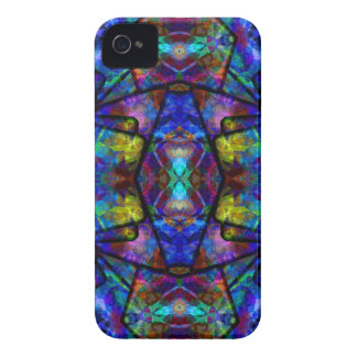 Medieval Stained Glass Digital Abstract Art Case-Mate iPhone 4 Case