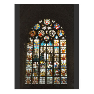 Medieval stained glass window, Holland Postcard