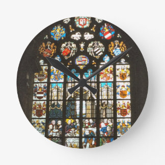 Medieval stained glass window, Holland Wallclock