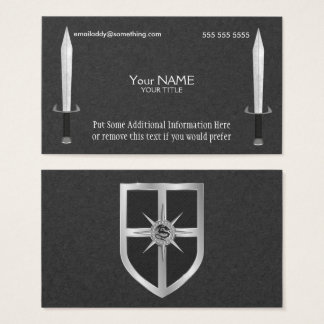 Medieval Sword and Shield Business Cards