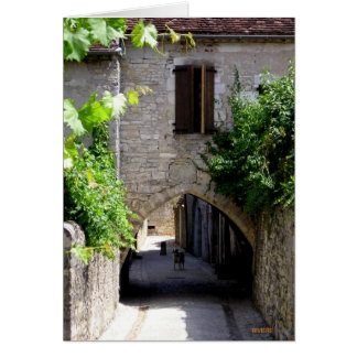 Medieval Town and Entrance Door , France Card