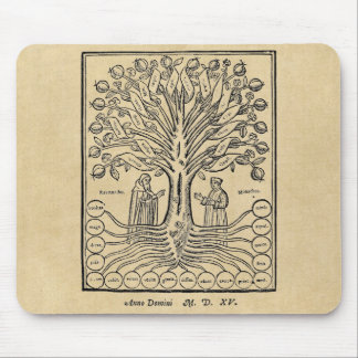 Medieval Tree of the Sciences Mouse Pad