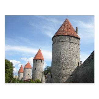 Medieval Turrets or Towers in Tallinn, Estonia Postcard