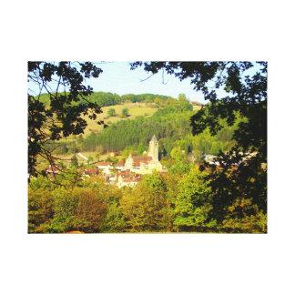 Medieval Village of Plazac Canvas Print