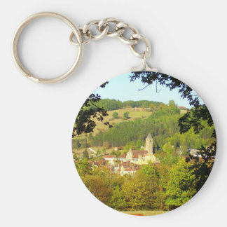 Medieval Village of Plazac Key Ring
