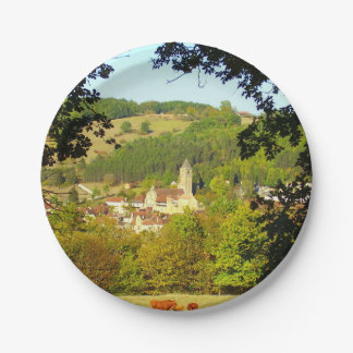 Medieval Village of Plazac Paper Plates
