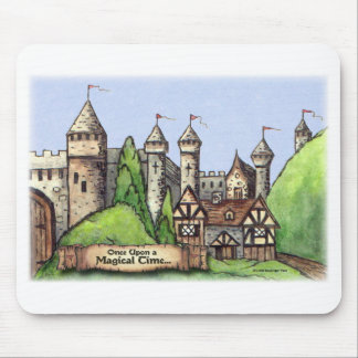 Medieval Village Painting Mouse Pad
