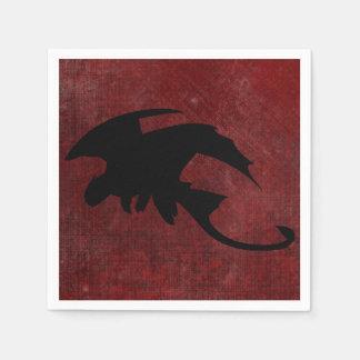 Medieval Vintage Fantasy Dragon Disposable Napkin