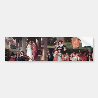 Medieval Wedding Bride Groom antique painting Bumper Sticker