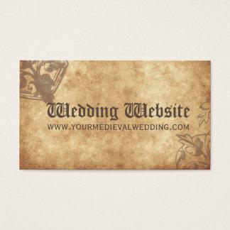 Medieval Wedding Website Card