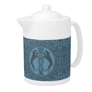 MEDIEVAL WEIM BLUE MEDIUM CERAMIC TEAPOT