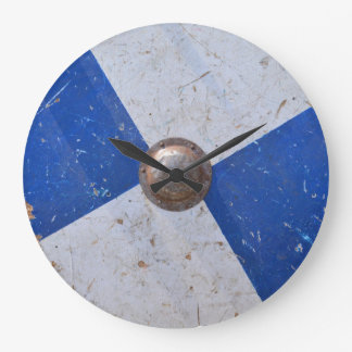 medieval wood metal shield war weapon knight armor large clock