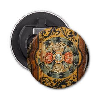 medieval wood painting art vintage old Gothic hist Bottle Opener
