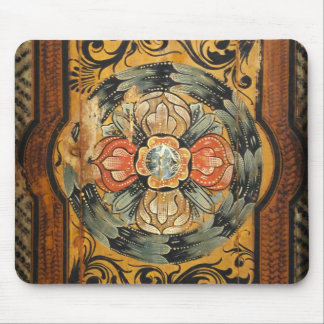 medieval wood painting art vintage old Gothic hist Mouse Pad