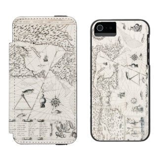 Medieval World map Quebec Nouvelle-France America Incipio Watson™ iPhone 5 Wallet Case
