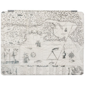 Medieval World map Quebec Nouvelle-France America iPad Cover