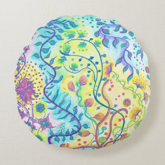 Medilludesign - Be flexible Express your freedom Round Cushion