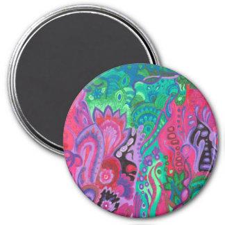 Medilludesign Inner Garden violet green Magnet