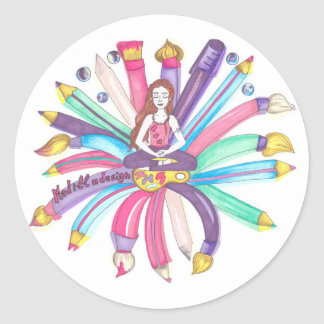 Medilludesign Logo Classic Round Sticker