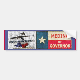Medina For Governor Bumper Sticker