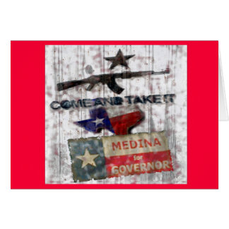 Medina For Governor Card