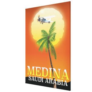 Medina Saudi Arabia Travel poster Canvas Print