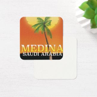 Medina Saudi Arabia Travel poster Square Business Card