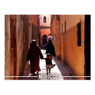 Medina Streets, Marrakesh Morocco Postcard