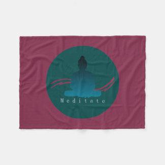 """""""Meditate"""" Beautiful Buddha. Fleece Blanket"""
