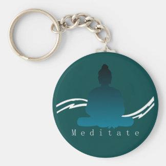 """""""Meditate"""" Beautiful Buddha. Key Ring"""