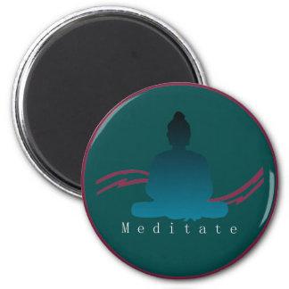 """Meditate"" Beautiful Buddha Magnet. Magnet"